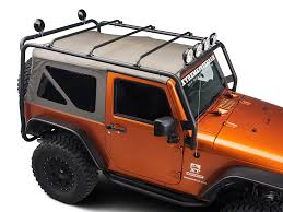 off road unlimited roof racks barricade wrangler roof rack textured black j100174 07 17