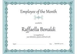 Employee Of The Month Certificate Templates Employee Of The Month Certificate Template With Picture Geographics