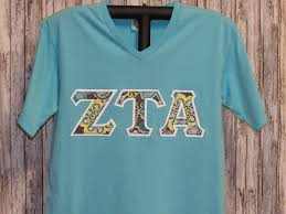 Lagoon Blue With White Background And Multi Color Print Sorority