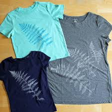 How To Make Shirt Leaf Printing On Fabric How To Make Wearable Art And More