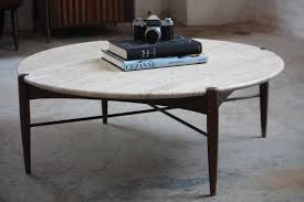 collection in round travertine coffee table with blissful bruno mathsson swedish mid century modern round t flickr