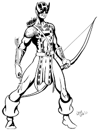 Small Picture Hawkeye Coloring Pages coloringsuitecom
