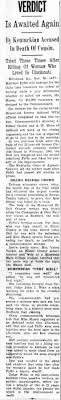 Third trial for Matthew Fyffe, for killing his cousin, Ida Mason. 1946. -  Newspapers.com