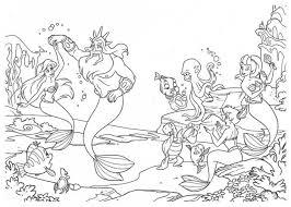 La Sirenetta E Tutti I Protagonisti Disegni Da Colorare Mare