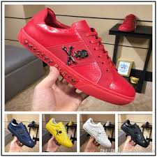 new black leather high top red bottom shoes men women s flat red sole shoes high sneaker lace up casual shoes