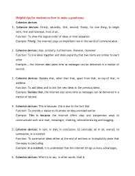 good conclusion examples for essays how to write conclusion  helpful tips for students on how to make a good essay cohesive devices1 good conclusion