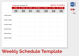 calendar templates weekly weekly schedule template 9 free word excel pdf format download