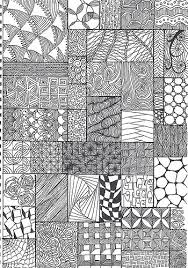 Zentangle Pattern Extraordinary zentangle pattern sheet A48 collected from various source Flickr