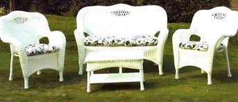 White Wicker Patio Furniture Look More At Http Besthomezone Within