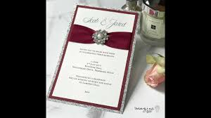 How To Make Wedding Invitations Using Glitter Gathered Ribbon And Pearl Decoration