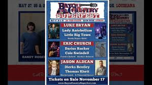 Bayou Country Superfest Seating Chart 2016 2016 Bayou Country Superfest Line Up