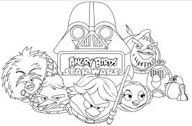 Small Picture printable angry birds star wars coloring pages free star wars