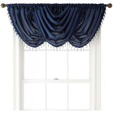 royal velvet encore rod pocket waterfall valance 20 liked on polyvore featuring home home decor window treatments curtains rod pocket dries