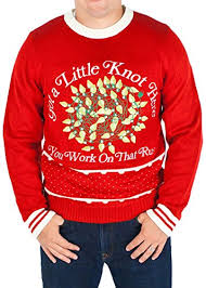 Men's Christmas Vacation Lighted 'Got a Knot Here Russ' Sweater ...