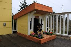 Creative Dog Houses Contemporary Dog House With Porch Plans K 9 Law On Design Ideas