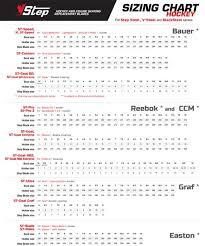 Ccm Runner Size Chart 13 Studious Bauer Runner Size Chart