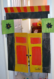 next project diy puppets puppet theater cardboard
