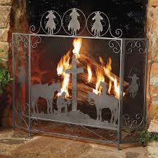 image of western rustic fireplace screens