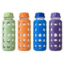 pick of the week 9 oz life factory reusable glass water bottle non toxic kids