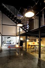 modern industrial office design. stunning industrial office featuring car display lamp and ping home design ideas modern
