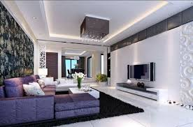 white stained plastering wall grey wooden roof structure purple and brown living room ideas lovely green
