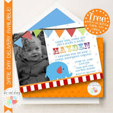 by sending fun circus themed invitations to family and friends there are many cute options but i like invitations where baby is the star performer