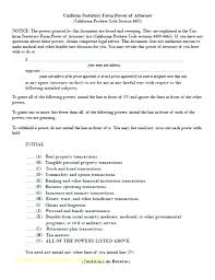 Poa Template Form General Power Of Attorney Template Florida
