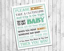 Baby Shower Clothes Pin Game Best Mint Green Clothespin Game Printable For Baby Shower Instant