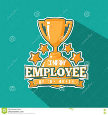 Employee Of The Month Trophy Employee Of The Month Trophy Flat Design Stock Vector