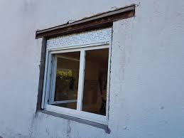 Fassade Bei Neuem Fenster Fenstersturz Verputzen