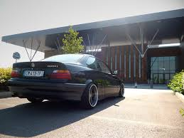 All BMW Models bmw 195 wheels : Acertive poke of a black non-M BMW e36 coupé on cult classic Azev ...
