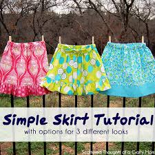 Simple Skirt Pattern Best Simple Skirt Tutorial With Options For 48 Different Looks Scattered