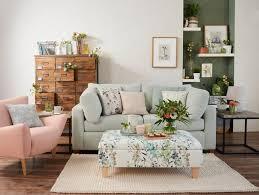 good homes design. botanical living room with watercolour flower prints 3 good homes design