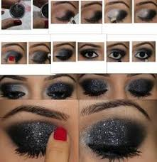 belly dance makeup tutorial black sparkle eyeshadow use sweet minerals sparkle fluff and witches brew no