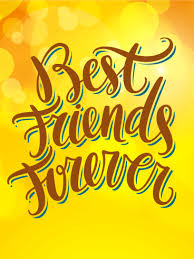 best friends forever friendship card