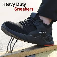 Newly 1 Pair Heavy Duty Sneaker Safety Work Shoes <b>Breathable</b> ...