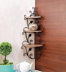 Wrought Iron Corner Shelves