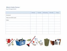 Chore Software Download Kids Weekly Chore Chart