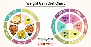 Wait Gain Food Chart Diet Chart For Weight Gain Patient Weight Gain Diet Chart