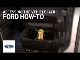 Accessing the Vehicle Jack | Ford How-To | Ford - YouTube