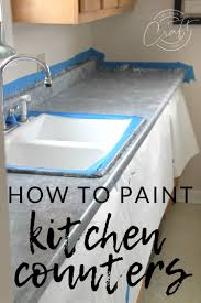 fake the look of granite painting laminate counters with a paint kit