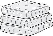 stack of mattresses clipart. available as a print stack of mattresses clipart w