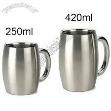 double wall stainless steel beer mug designs