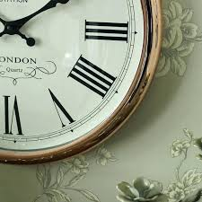green wall clock large round copper wall clock sage green kitchen green wall clock large round