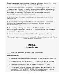 Sponsorship Proposal 14 Free Pdf Word Documents Download