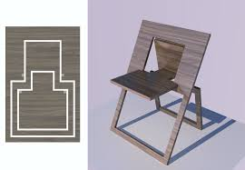 simple flat folding chair tiny house design with 0