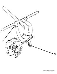 Ana The Ski Acrobat Coloring Page
