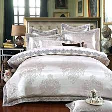 gold silk bedding set silk bed set queen royal blue bedroom decor luxury jacquard silk bed