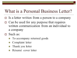 Personal Business Letter Examples Personal Business Letters And Common Documents Ppt Video Online