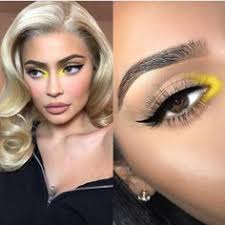 flawless dolls on insram recreation of kyliejenner makeup by makeupbybrooktiffany would you guys wear this pop of yellow in the inner